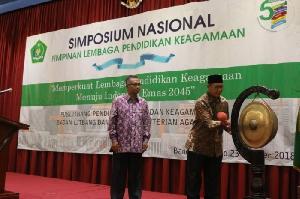 Simposium Nasional Pimpinan Lembaga Pendidikan Keagamaan Nasional