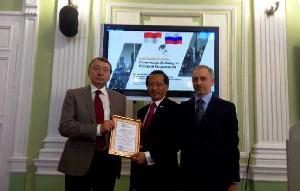 Dubes RI Terima Gelar Visiting Professor dari Universitas di Rusia