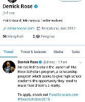Buruan! Rebut Beasiswa untuk 3 Orang dari Pebasket Derrick Rose
