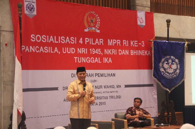 Universitas Trilogi  Kumandangkan Semangat 4 Pilar MPR RI