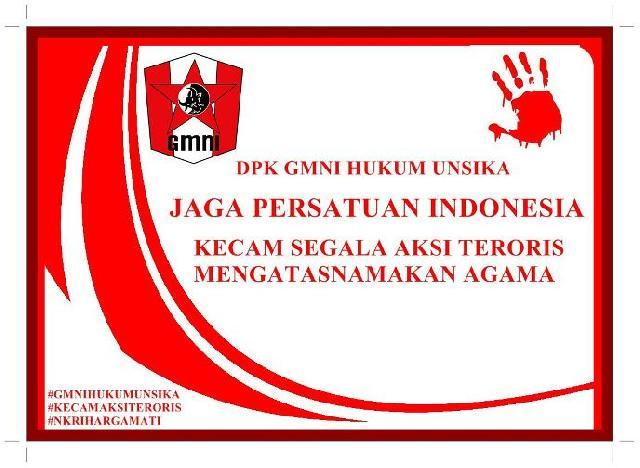 GMNI DPK Hukum Unsika Kecam Aksi Terorisme