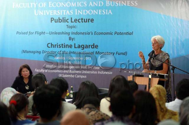 Managing Director IMF Beri Kuliah Umum di UI