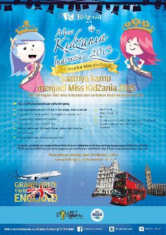 Miss KidZania Indonesia 2015, Ajang Cari Bakat Storytelling Anak Indonesia
