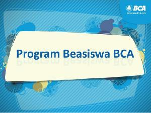 Mahasiswa UGM Berprestasi Terima Beasiswa BCA