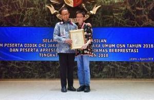 DKI Raih Juara Umum Olimpiade Sains Nasional 2018